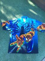 Changes Spider-Man Marvel Theme Vintage Shirt Size Large Made in Korea Rare