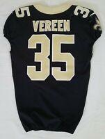 #35 Shane Vereen of New Orleans Saints NFL Locker Room Game Used Jersey