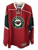 Reebok Jersey NHL Hockey Minnesota Wild CCM Long Sleeve Sweater - Men Size XL