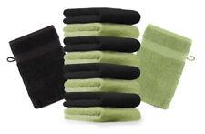 Betz lot de 10 gants de toilette Premium: vert pomme & noir, 16 x 21 cm