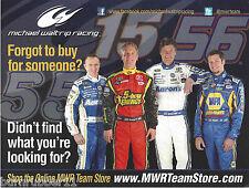 "2012 MICHAEL WALTRIP RACING ""ONLINE TEAM STORE"" NASCAR THIN STOCK B/B POSTCARD"