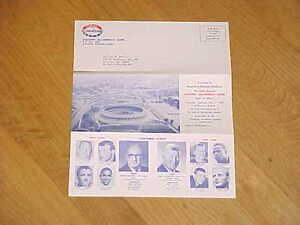 1966 Coaches All America Game Football Promo Pamphlet Tommy Nobis Steve Sloan