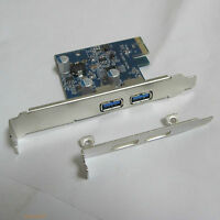 low profile + Normal bracket PCI-e to 2-port USB 3.0 A female converter card New