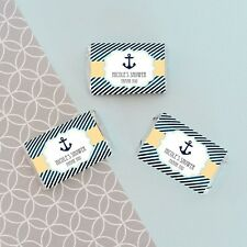 24 Personalized Nautical Ocean Theme Mini Candy Bar Labels Baby Shower Favors
