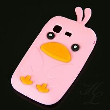 Samsung Galaxy Pocket S5300 Soft Silikon Case Schutz Hülle Etui Chicken Rosa 3D