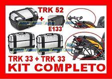 YAMAHA XT 660 Z TENERE' 2008 3 VALIGIE TRK33 TRK52 + TELAIO PL363 + PIASTRA E333