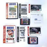 College Football's National Championship & NFL 95 Games Sega Genesis 1994 CIB