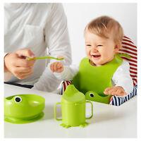IKEA MATA 4-piece eating setGreen baby Feeding Crockery tableware Dinnerware
