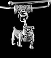 Bull dog charm  Bulldog jewelry  Dog   Fits european style bracelet or necklace