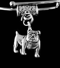 Bull dog charm  Bulldog jewelry  Dog   Fits european style bracelet or necklace