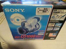 Sony Mavica MVC-CD1000 2.1MP Digital Camera - Black & Metallic silver