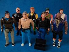 Toy Figures - THE A TEAM - Good Guys & Bad Guys Set Galoob 1980's