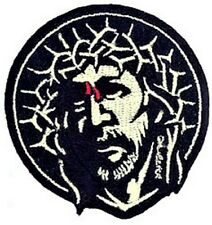 Crown of Thorns PATCH Embroidered Iron-On Artist Marco Almera Jesus MAP29