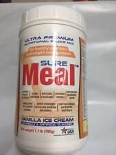 2 Sure Meal Ultra Premium Nutritional Shake Mix, Vanilla Ice Cream Flavor 1.7lb