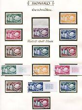 Monaco 1949 401-407 u */Gest etc upu motif (w0173c
