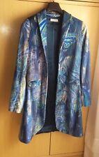 """Giacca Cappotto Donna """"V. D. SPIGA"""" Taglia 42 Blu -Woman Coat Jacket"""