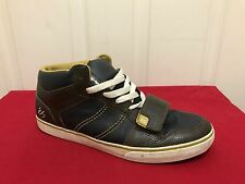 Men's Es Skate Shoes Justin Eldridge Theory Mid Blue/Brown Size 11 Pre Owned