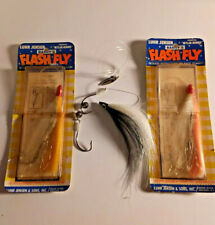 2 Vintage Luhr Jensen Barry's Flash Fly and 1 Unbranded fly hairtail lure