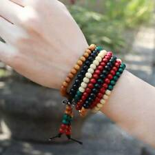 Sandalwood Buddhist Buddha Meditation 216 Prayer Bead Mala Bracelet