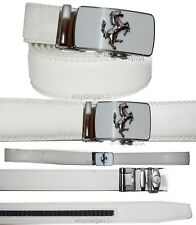 Men's belt, Genuine Leather, Auto Lock, track belt, Horse buckle up to 50 inches