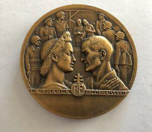 Medal Bronze The France Grateful Deporte Political 1945 REF65117