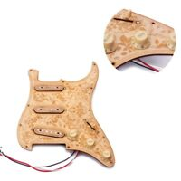 3 Ply Maple SSS Prewired Loaded Pickguard for ST/ Strat Electric Guitar
