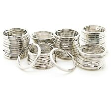 "LOT OF 1000 SPLIT RINGS SILVER KEY CHAIN 24mm 1"" DIAMETER KEY RINGS HEAVY DUTY"