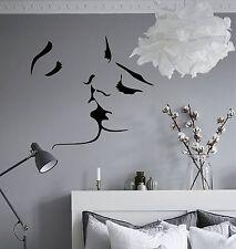 WD Wandtattoo GESICHT LIEBE KUSS Bilder Wandsticker Schlafzimmer Aufkleber Decal