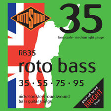 Rotosound RB35 Roto Nickel on Steel Bass Guitar Strings gauges 35-95