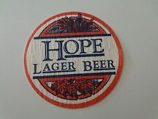 Beer Bar Thin Coaster ~ HOPE Brewing Lager ~ Providence, RHODE ISLAND ** CLOSED