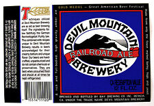 Devil Mountain Brewery by Bay Brewing Co RAILROAD ALE beer label 12oz