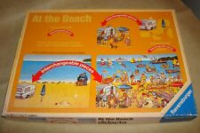Ravensburger AT THE BEACH Interchangeable 45 Piece Puzzles Vintage 1988 Lot Of 2