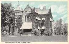 Fremont Ohio Sandusky County Jail Street View Antique Postcard K54277