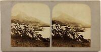 Francia Mont-Cenis Montagne Savoia Foto Stereo Vintage Albumina c1860