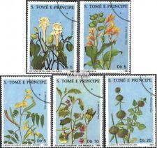 Sao Tome e Principe 1036-1040 gestempeld 1988 Geneeskrachtige Planten