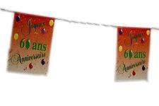 """Guirlande """"Joyeux anniversaire"""" pour vos 60 ans !!! 8 Pavillons 2032 decoration"""