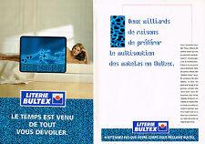 PUBLICITE ADVERTISING 104 1995  LITERIE BULTEX 2  matelas ( 2p)