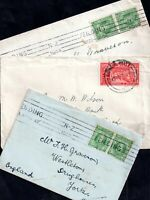 New Zealand KEVII-KGV Postal History Covers x 3 WS17880