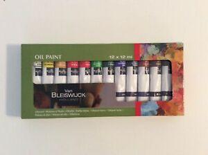 Boite de 12 tubes de peinture a l'huile 12 ml