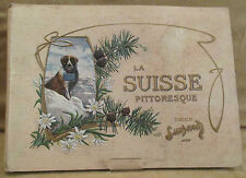 Ancien album suchard vignette photo sur la Suisse pitoresque, art nouveau 1903