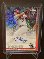 2019 Topps Chrome Update Andrew Knizner Rookie Refractor Auto Cardinals SP RC