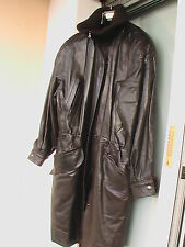 CLAUDE MONTANA - Paris manteau cuir agneau 40 <> 44 Leather Coat Ledermantel