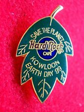 HRC Hard Rock Cafe Kowloon Earth Day 1999 Green Leaf