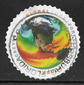 U.S. Scott #4893 ($1.15) Map of Sea Surface Temperatures Stamp USED XF