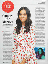 Zoe Saldana Entertainment Weekly Magazine Article/Clipping May 2017