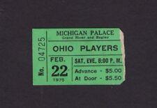 1975 Ohio Players concert ticket stub Detroit Mi Love Rollercoaster