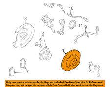 NISSAN OEM Rear Brake-Rotor 432069E601