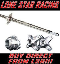 Complete Lone Star Racing Axcalibar Pro axle for Honda TRX450
