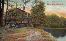 Postcard Bath House at Silver Lake in Akron, Ohio~111078