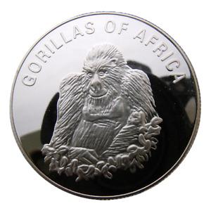 UGANDA 1000 SHILLINGS 2003 ANIMAL GORILLA SITTING - BIG HEAVY PROOF COIN